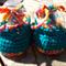 "crochet baby shoes ""dancing feet""  acrylic yarns 8.5-9.5cm foot"
