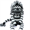 'Lawson' the Sock Lion - black and grey stripes - *ready to post*