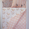 Reversible cot quilt with Pink dots and baby fawn