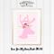 Love You My Deer Pink A4 Print