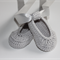 Silver Grey Crocheted Ballet Shoe |  NB to 12M | Ready to Ship