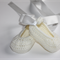White Crocheted Ballet Shoe |  NB to 12M | Ready to Ship