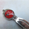 Red Hummingbird Bookmark - Silver