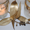 25 x GOLD LEAVES Vintage Gatsby Rustic Art Deco Style Wedding Party Table Decor