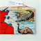 Zipper Pouch: Northern Territory Vintage Linen Tea Towel Crocodile Emu