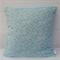 Aqua and White floral cushion cover