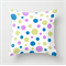 Bright Pastels Polka Dots White Background Cushions Cover