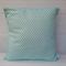 Aqua and White Geometric cushion cover