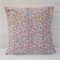 Pink pastel floral cushion cover