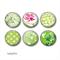 Fridge magnets - Green Floral fridge magnet set.