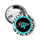 Ovarian cancer awareness badge or magnet