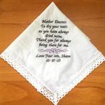 Hanky Mother of the Bride/Father of the Bride Hankie/Handkerchief wedding