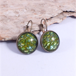 Dragon Scale Earrings - REAL dyed green snake shed
