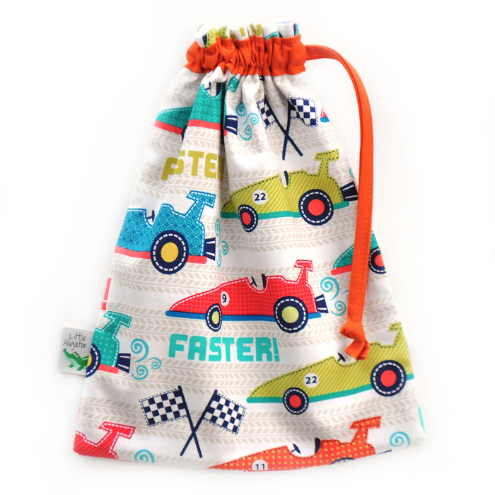 Kids Toy Bag. Drawstring Bag to Carry Toys. Racing Cars. Durable ...
