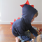 Size 2 - Dino Roar Dinosaur Jacket / Hoodie (Navy with Red Spikes)
