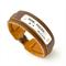 Handstamped Adjustable Leather Cuff Bracelet