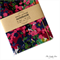 Floral Watercolour Upcycled Fabric Covered Notebook