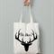 oh Deer  calico tote bag canvas market beach bag shopper