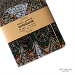 Tribal Beige Upcycled Fabric Covered Notebook