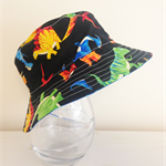 Boys summer hat in funky dino fabric