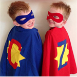 Dress up superhero magician cape and mask set