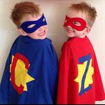 Dress up superhero magician cape and mask set