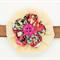 Bella-Button Layered Flower Headband - Brown
