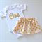 Pink & Gold 1st Birthday Outfit / Cake Smash Set - Glitter One Onesie & Skirt