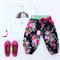 Harem Pants size 2 Midnight floral Jennifer Paganelli
