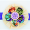Bella-Button Double Layer Flower Headband - Purple