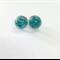 Turquoise flake transparent stud earrings.