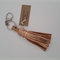 Metallic copper leather keyring