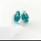 Turquoise  flake transparent teardrop stud earrings.