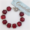 Ruby Red Crystal and Diamante Bracelet