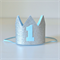 Baby Boy Silver Glitter & Blue Mini Crown - 1st Birthday or Cake Smash