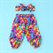 Harem Pants size 2 bright geo Rainbow colours