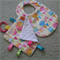 Baby Taggie and Bib - Yellow Owls - Girl