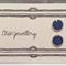 Blue Glitter Polymer Clay Studs -10mm Round