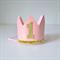 Baby Pink & Gold Glitter Mini Crown - 1st Birthday or Cake Smash Photo Shoot