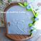 Fairy Door OOAK Arched  Freestanding Pearl Sky Blue Roses