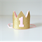 Gold Glitter & Pink Mini Crown - 1st Birthday or Cake Smash Photo Shoot