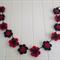 "Footy crochet flower bunting ""Bombers"""
