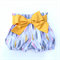 Flexi shorts with fabric sash Sizes 0000 - 2 Falling leaf with mustard bow