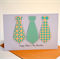 Happy Father's Day Card|Personalise with name |Aqua and beige| DAD004