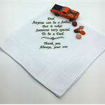 Handkerchief, Hanky for Dad with a Sentimental Verse.