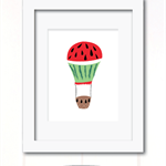 watermelon balloon print