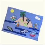 Pirate Island Felt Play Mat, Felt Board Travel Toy
