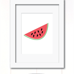 watermelon slice print
