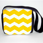 Yellow Chevron Messenger Bag