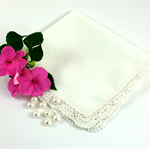 Wedding/Bridal Hanky, Handkerchief, Ready for Your Own Words to be Embroidered .